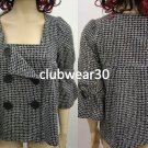 Beautiful NewBlack checkered jacket- Medium