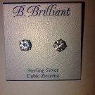 $50  B. Brilliant Sterling Silver Cubic Zirconia Stud Earrings (4 ct. t.w.)8MM