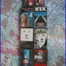 CASSETTES -LOT OF 7 - 80'S HAIR BANDS