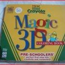 KIDS - CRAYOLA 3D MAGIC COLORING BOOK