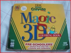 KIDS - CRAYOLA 3D MAGIC COLORING BOOK