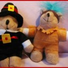 CUTE PILGRIM & INDIAN PLUSH BEAR DUO