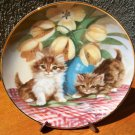 "Franklin Mint Plate ""Tabbies and Tulips"" by Brian Walsh"