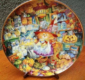 "Franklin Mint Plate ""Scardey Cats"" by Bill Bell"