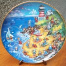 "Franklin Mint Plate ""Beach Retreat"" by Bill Bell"