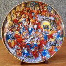 "Franklin Mint ""Food Fight"" Plate by Bill Bell"