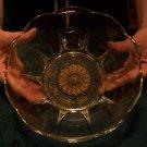 Georges Briard Glass Bowl 1950's Regalia Pattern