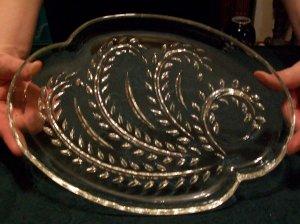 Set of 4 Federal Glass Hospitality Snack Trays