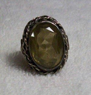 Vintage Silver Plated Citrine Ring (Ladies)