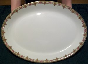 John Maddock & Sons ltd Royal Vitreous Oval Platter