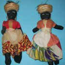 Vintage Jamaican Cloth Dolls (set of 2)