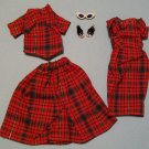 "Vintage Barbie ""Pattern Dress"" 3 Piece Set"