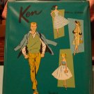 "Vintage Ken Doll Ponytail Case 1961 ""Teal Green"""