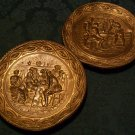 Decorative Copper Hanging Wall Plates (English Pub Scenes)