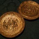 Decorative Copper Hanging Wall Plates (English Pub Scenes)