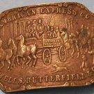 American Express Belt Buckle (Brass, Vintage)