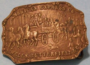 American Express Belt Buckle (Brass, Vintage)