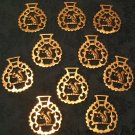 Set of 10 Squirrel Horse Brasses (Vintage)
