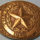 Brass Belt Buckle &quot;State of Texas&quot;