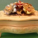 Capodimonte Porcelain Jewelry/Trinket Box