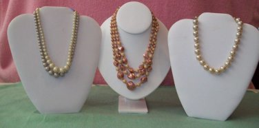 6 Vintage Beaded and Faux Pearl Necklaces (Germany/Japan)
