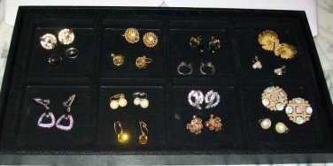 Set of 15 Clip on Earrings (vintage and older)