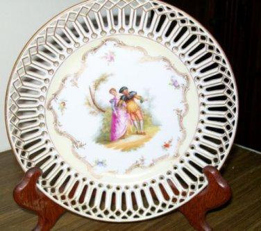 Dresden Dessert/Collector Plate 'Quilt Style'