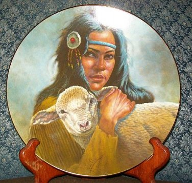 """Perillo """"Lily Of The Mohawks"""" Kateri Tekakwitha Collectors Plate"""