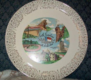 North Carolina Souvenir Collectors Plate