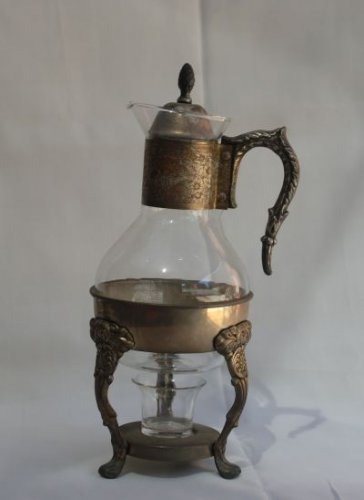Silver plated Glass Coffee/Tea Carafe (Vintage)