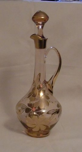 Hungarian Glass Wine Decanter (Amber 1970s)