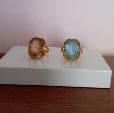 2 Vintage Vargas Rings (18kt HGE)