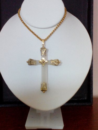 Vintage Whiting & Davis Cross Necklace
