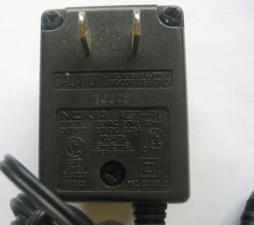 nokia ac adapter  ACP-7U DC3.7V