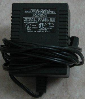Condor model RPS480405G 5V-600mA-DC adapter