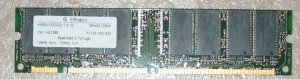 Infineon PC133-333-520, 128MB CL3---free shipping