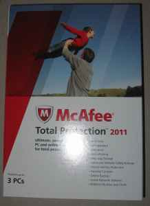 New Sealed Mcafee Total protection 2011-3PCs