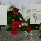 Silver Heart/Bell Place Card Holder with Calla Lilly Place Card
