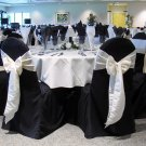 Black Wedding Banquet Chair Cover- Round Top Type