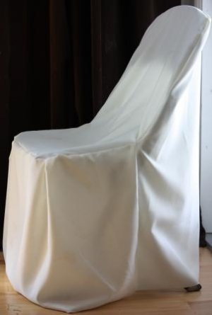 Ivory Folding Chair Cover