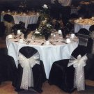 Black Satin Banquet Chair Cover-Round Top Type