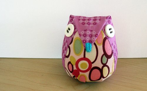 Phoenix - owl pincushion.