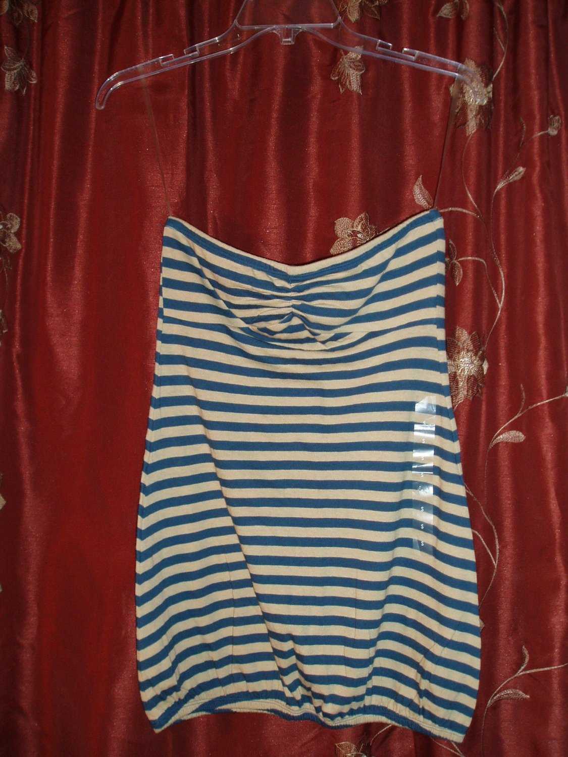 DKNY Jeans top with stripes, Size Juniors, S