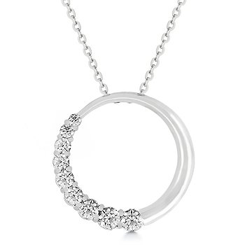 Clear CZ circle pendant