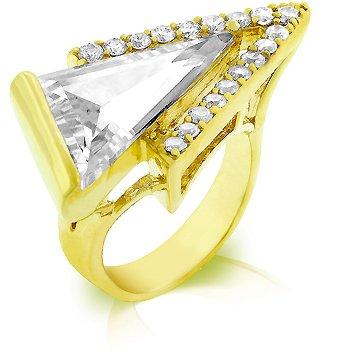 Cubic Zirconia Fashion Ring, size 8