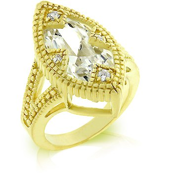 Cubic Zirconia Fashion Ring, size 8