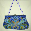 Far Nine Blue & Purple Beaded bag