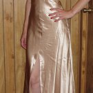 Cicci USA Womens/Juniors gold shimmering dress, Size Medium, M