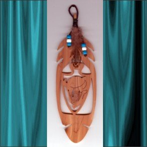 Buffalo Aromatic Cedar Feather Wall Hanging