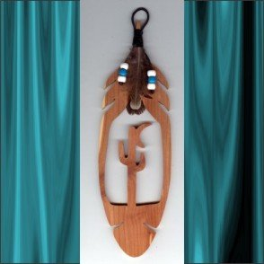 Desert Moon Aromatic Cedar Feather Wall Hanging